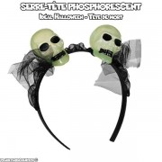 Serre-tête phosphorescent têtes de mort