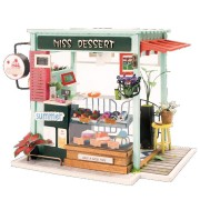 Robotime DG-M06 DIY Doll House Miniature With Furniture Wooden Dollhouse Toy Decor Craft Gift