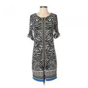 Laundry by Shelli Segal Casual Dress - Shift: Black Print Dresses - Used - Size 4