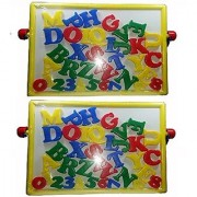 2 in 1 Magnetic Educational Board with Alphabets Numbers (multicolor) pack of 2