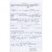 Foaie Parcurs Marfa A4, 100 File/Carnet - Formular Tipizat pentru Transport de Marfa