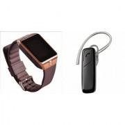 Zemini DZ09 Smartwatch and HM1100 Bluetooth Headphone for XOLO WIN Q 1000(DZ09 Smart Watch With 4G Sim Card Memory Card| HM1100 Bluetooth Headphone)