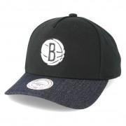 Mitchell & Ness Keps Brooklyn Nets Denim Visor Black Adjustable - Mitchell & Ness - Svart Reglerbar