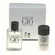 Giorgio Armani Acqua Di Gio 100Ml Apă De Toaletă + 75Ml Deodorant Stick Travel Set