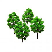 ULTNICE Model Trees Green Mini Tree Set Scenery Landscape Pack of 25