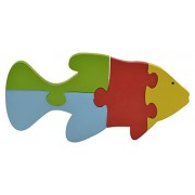 Skillofun Wooden Take Apart Puzzle Large - Fish, Multi Color