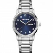 Wenger Avenue Reloj de cuarzo acero inoxidable blue-silver