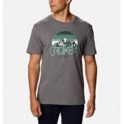Columbia T-Shirt Graphique Manches Courtes Basin Butte - Homme Gris Branded Sunshade XXL