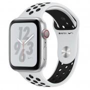 Apple Watch Nike+ Series 4 GPS + Cellular 40mm Alumínio Prateado com Bracelete Desportiva Nike Platina Pura/Preta