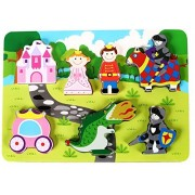 Fun Princess Castle Chunky Wooden Puzzle for Toddlers