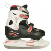Nijdam justerbara ishockey skridskor svart/röd