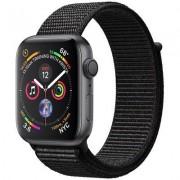 Apple SmartWatch APPLE Watch Series 4 Koperta 44 mm z aluminium w kolorze gwiezdnej szarości z opaską sportową w kolorze czarnym MU6E2WB/A
