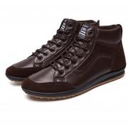 807 Hombres Botas de cuero PU suave cálido invierno zapatos de cuero hombres Botines