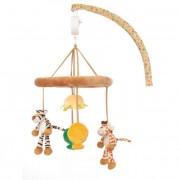Diinglisar zenélő forgó kiságyra zsiráf+tigris Teddykompaniet
