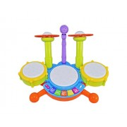 Babysid Collections Drumming Toys for Baby Kids Touch Electronic Drum Set Big with Flashing Lights Size : 40 x 23 x 30 cm