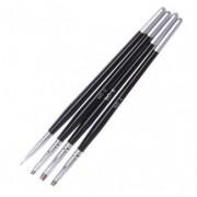 Set 4 pensule pentru nails-art - CP002