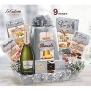 Cos de Craciun Platino - 9 piese, made in Italy