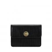 Maxwell-Scott schwarzer Damen Leder Visitenkartenhalter- Portofino