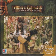 Pirates of the Caribbean 100 Piece Puzzle - Captain Jack Sparrow on Skull Throne