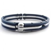 The Jewelbox Toughened Fibre Neon Navy Blue Mens Bracelet Kada