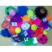 Stress Balls and Squeeze Toys Value Assortment (12 Pack) Stress Relax Toy Balls, Puffer Ball Assortm