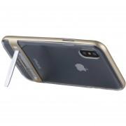 Mercury Goospery 5,5 Pulgadas Para IPhone X Desmontable Galvanotecnia Bumper Frame + TPU Protector Antichoque Volver Funda Con Soporte (oro)