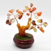 Copac in ghiveci cu pietre de carneol - 12cm