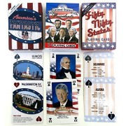 Fifty States And Presidents And Americas Fantastic, United State, Playing Cards, Historical And Educational, 3 Deck Set