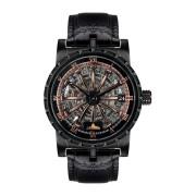 【86%OFF】Arkadius スケルトン デイト ラウンドウォッチ ブラック ファッション > 腕時計~~メンズ 腕時計