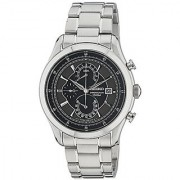 Seiko Dress Chronograph Black Dial Mens Watch - Spc167P1