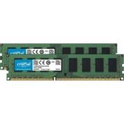 Crucial CT2K51264BD160B módulo de Memoria (8 GB, 2 x 4 GB, DDR3, 1600 MHz, 240-pin DIMM, Negro, Verde)