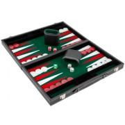 Set joc table Backgammon in stil Casino Compact 38x47 cm Verde
