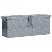 vidaXL Aluminium Box 48.5x14x20 cm Silver