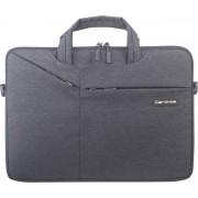 Let op type!! Cartinoe polyester waterdichte laptop handtas voor 14/15 4 inch laptops met kofferbak trolley riem (zwart)