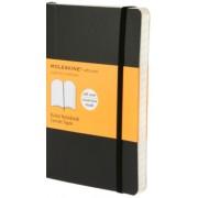 Moleskine: Zápisník měkký linkovaný černý S