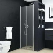 vidaXL Vrata za tuš-kabinu matirana ESG 90 x 180 cm