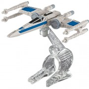 Hot Wheels, Star Wars: The Force Awakens, Resistance X-Wing Fighter (Closed Wings, Blue) Die-Cast Vehicle by Hot...