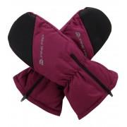ALPINE PRO HANGO Dětské zimní rukavice KGLM009814 ostružinová M