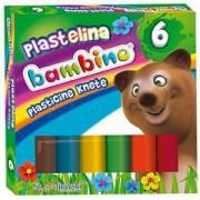 Пластелин 6 цвята Bambino, St. Majewski, 5903235001727