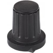 Buton rotativ cu săgeată indicatoare Mentor, negru, Ø ax 6 mm, tip 4311.6131