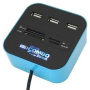 Card Reader All In One USB Hub 3 Port 2.0 - HB2CR