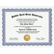 Bobblehead Bobble Heads Degree: Custom Gag Diploma Bobble Head Doctorate Certificate (Funny Customiz