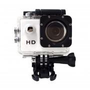 Cámara de Acción Cámara deportiva HD 1080 P grabadora sumergible ajustable Cámaras Deportivas para natación surf buceo(#Blanco)