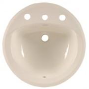 American Standard 0491.011.222 Rondalyn Vitreous China fregadero de encimera con agujeros de llave en centros de 8 pulgadas, lino