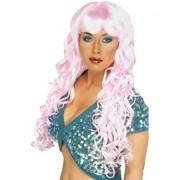 Peruca Sirena roz