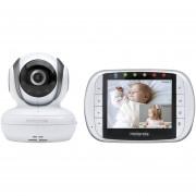 Motorola MBP36S Video Monitor bebé remoto inalámbrico con pantalla LCD Color de 3,5 pulgadas, cámara remota Pan, Tilt y Zoom