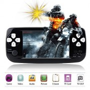 """Handheld Game Console,Rongyuxuan Portable Video Game 4.3""""TFT Screen 4GB PAP Classic Handheld Game Console 653games 64 Bit Portable Game Console,Birthday Gift for Children-Black"""