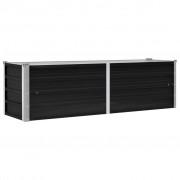 vidaXL Vaso/floreira jardim em aço galvanizado 160x40x45 cm antracite