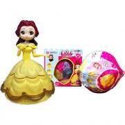 Emob Amazing Surprise Ball Transform to Mini Princess Doll Figure Toy for Kids (Multicolor)