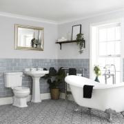 HudsonReed Ensemble baignoire îlot, WC et lavabo sur colonne - Richmond